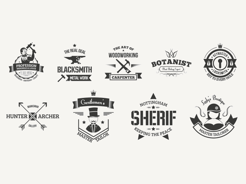 free vintage logo templates badges freebie download photoshop