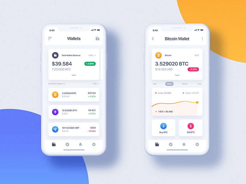 Free Cryptocurrency Wallet App Light & Dark download