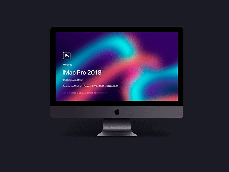 Free iMac Pro 2018 5K Mockup download