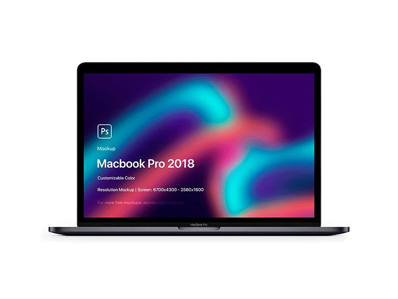 Free Macbook Pro 2018 5K Mockup download