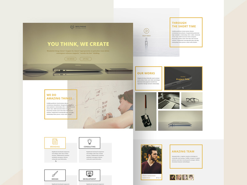 Wolfhead One Page Agency Template