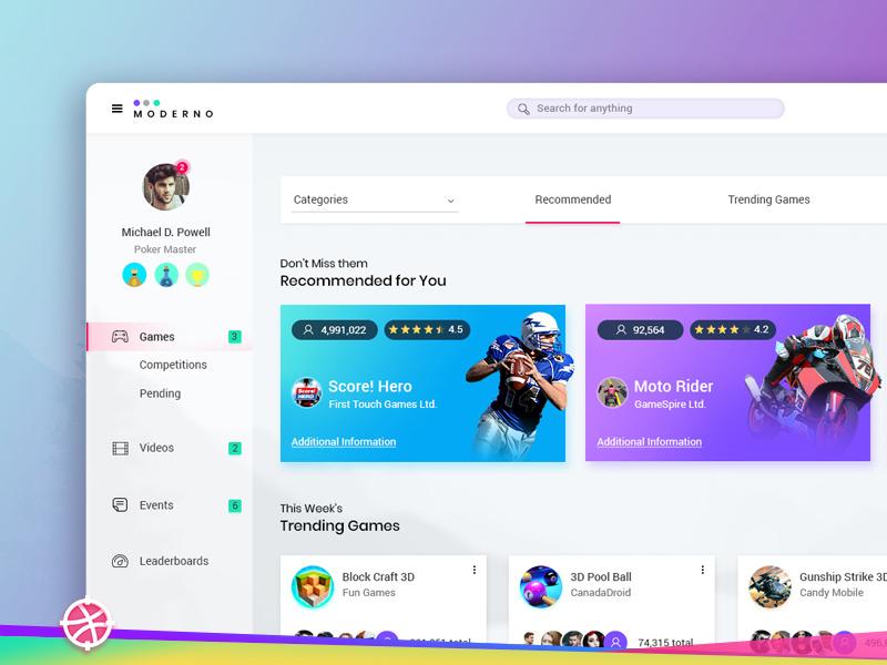 sports dashboard ui design freebie download photoshop resource
