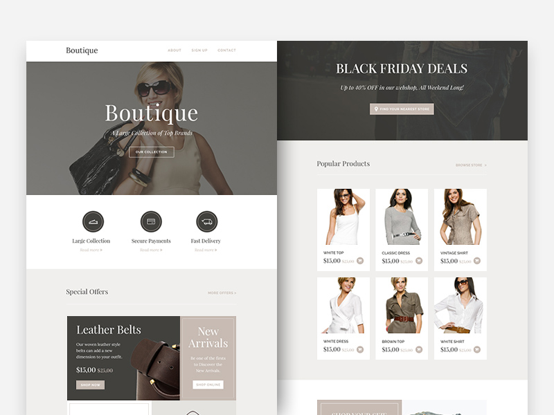Free Boutique Responsive Email Newsletter download
