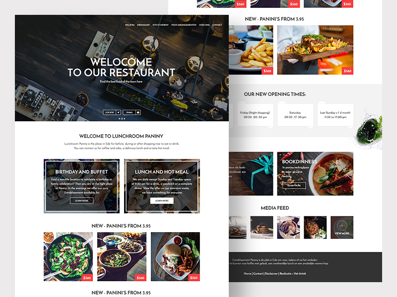 Free Restaurant Website Template download