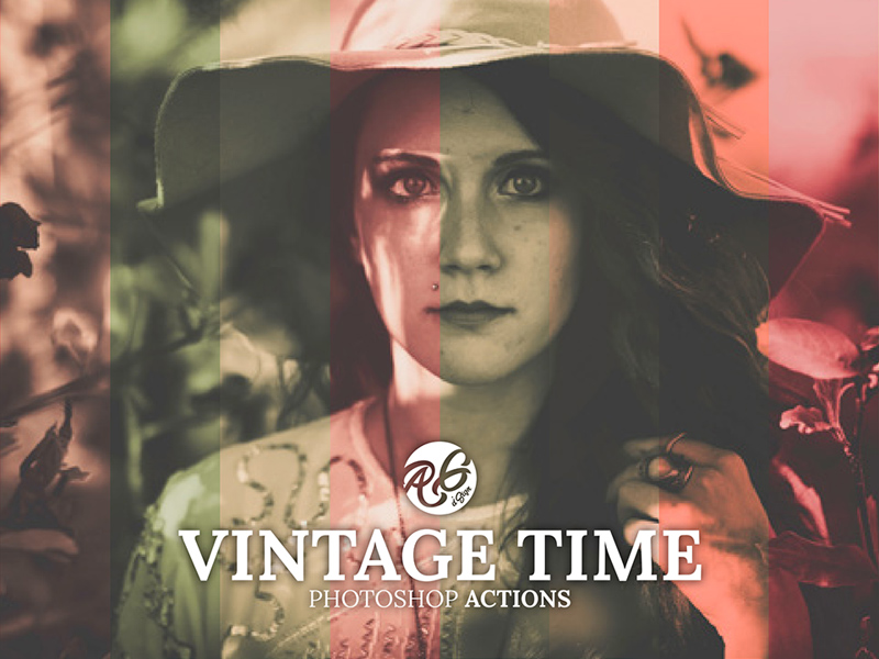Free Vintage Time Photoshop Actions download