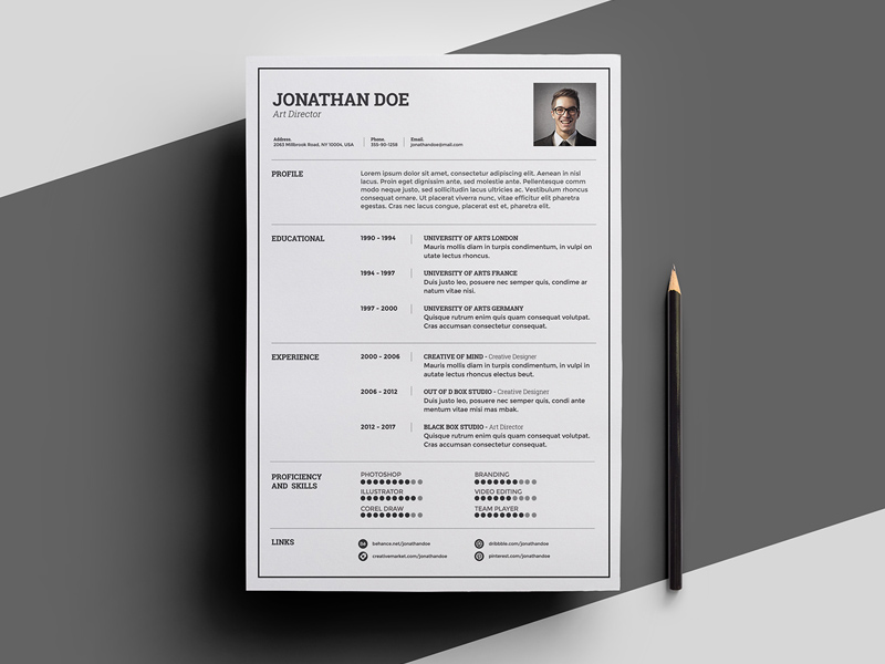 Free Light Resume Template download