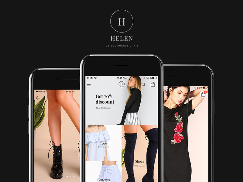 Free Helen – IOS eCommerce UI Kit download