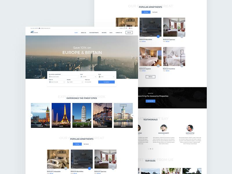 real estate website template homeestate
