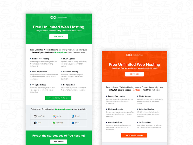 hostfree email newsletter template free psd template psd repo