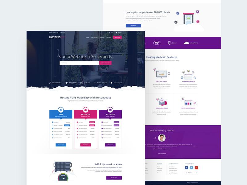website hosting template