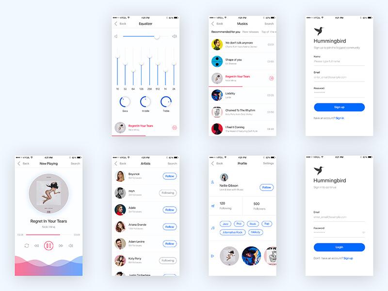 Free Hummingbird – Music App Screens download