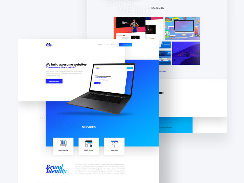 Free Icarus – Agency Website Template download