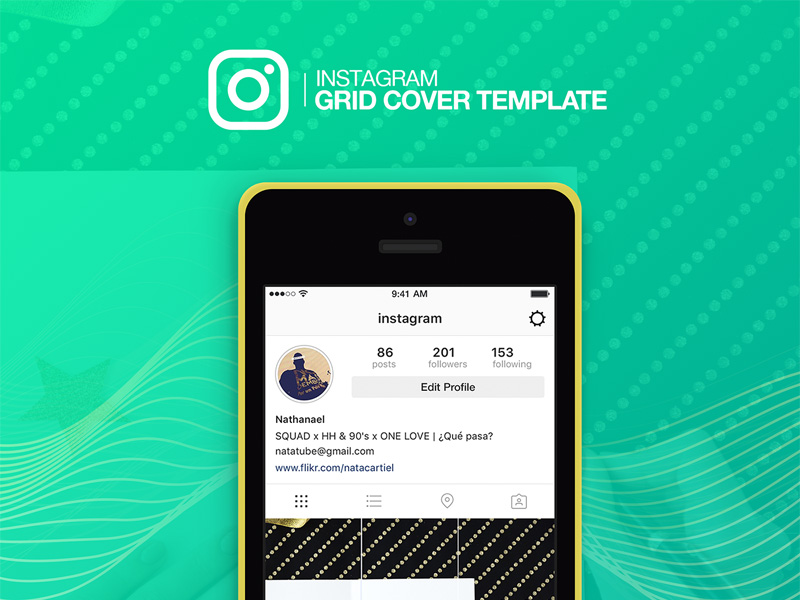 Instagram Grid Cover Template Freebie - Download Photoshop Resource ...