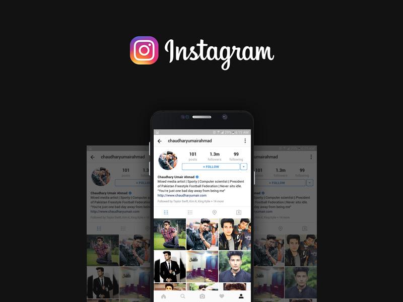 Instagram Profile Mockup Freebie - Download Photoshop ...