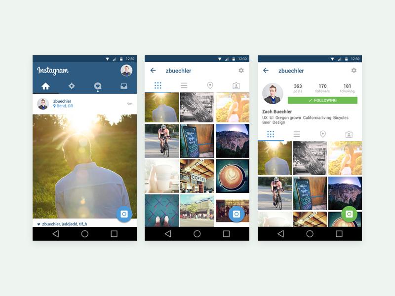 Free Instagram Template – Material Design download