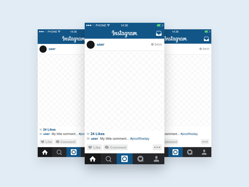 instagram template mobile mockup