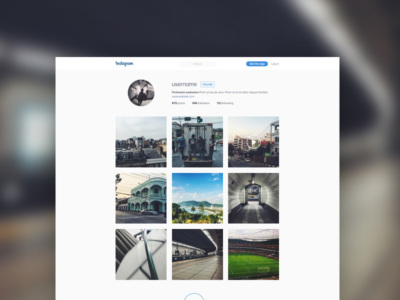 Instagram Template Mockup Freebie - Download Photoshop Resource ...