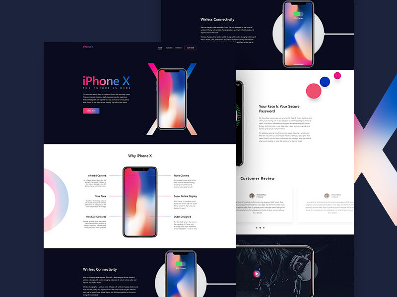 iphone x landing page