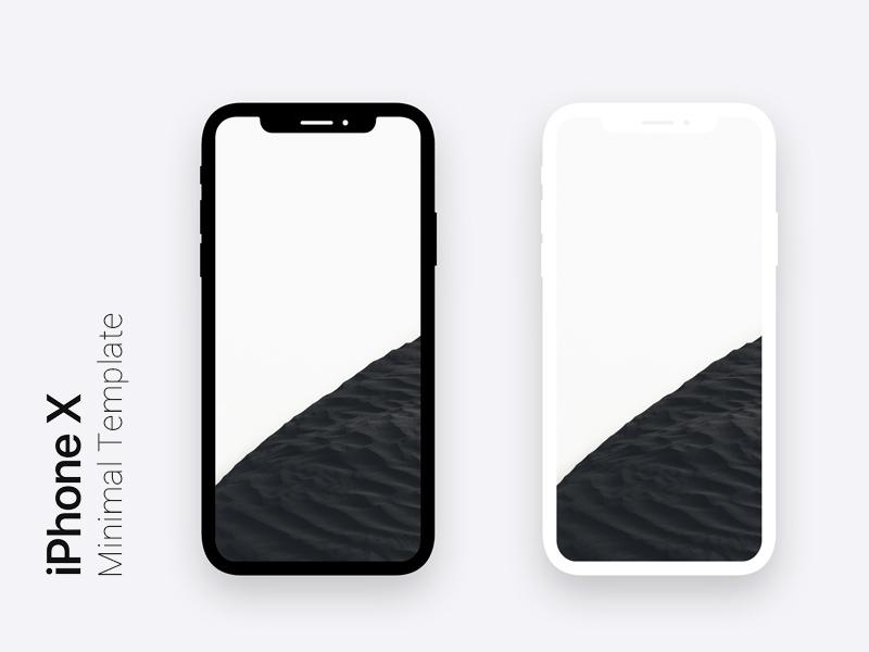 iPhone X Minimal Dark & Light Template For Photoshop Freebie ...