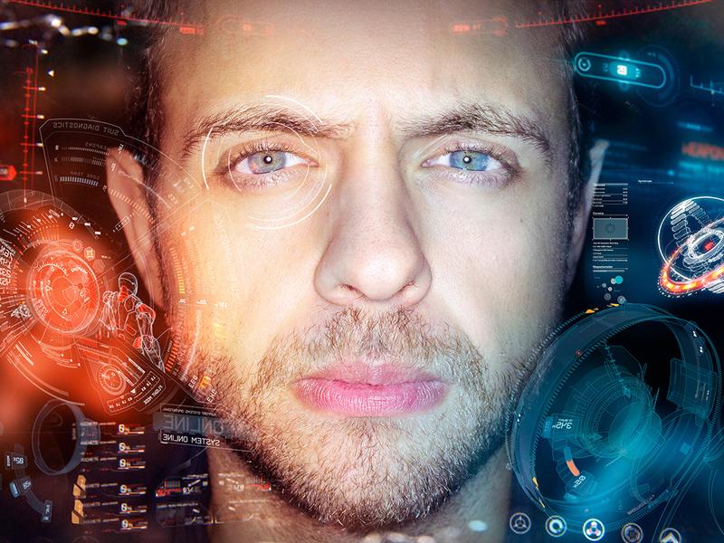 Free Iron Man HUD High-Res Mockup download