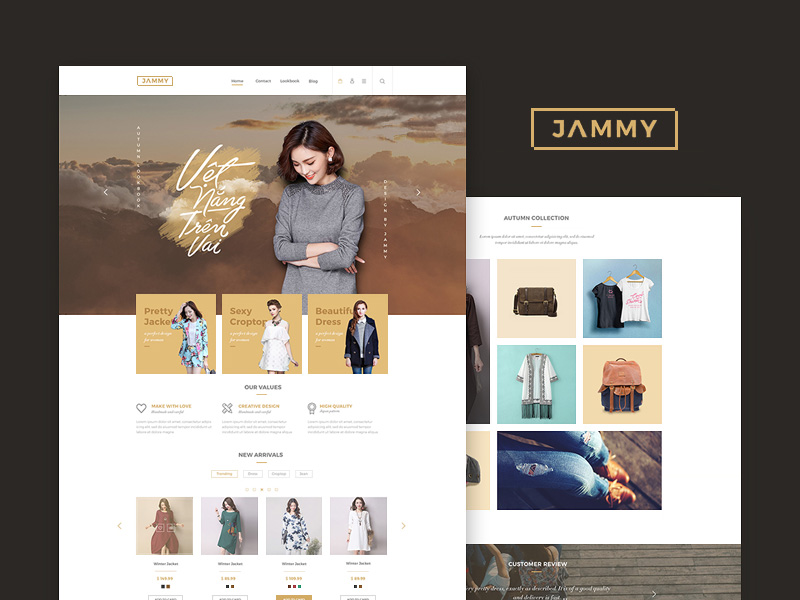 jammy ecommerce website