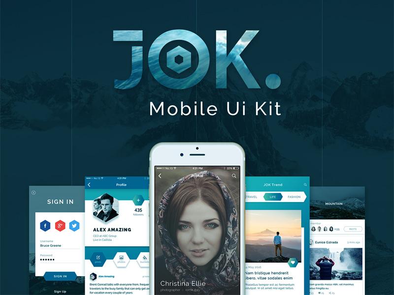 Free Jok UI Kit Demo download