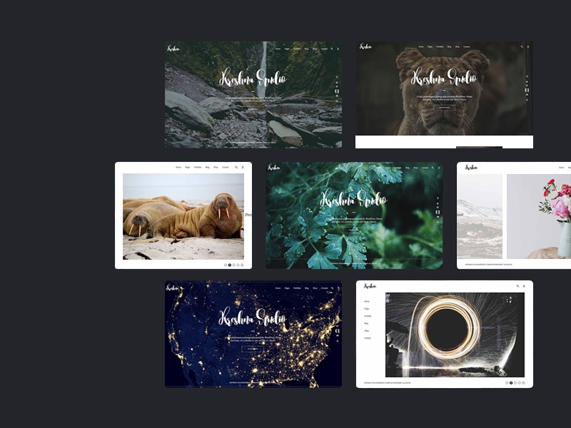 Kreshna PhotographyPortfolio Template Freebie Download Photoshop - Photography portfolio template