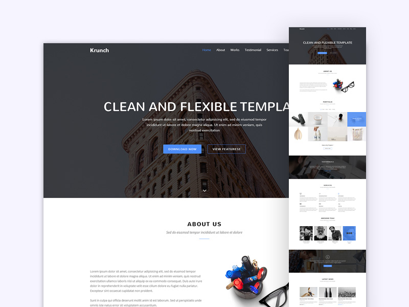 Krunch Agency Landing Page