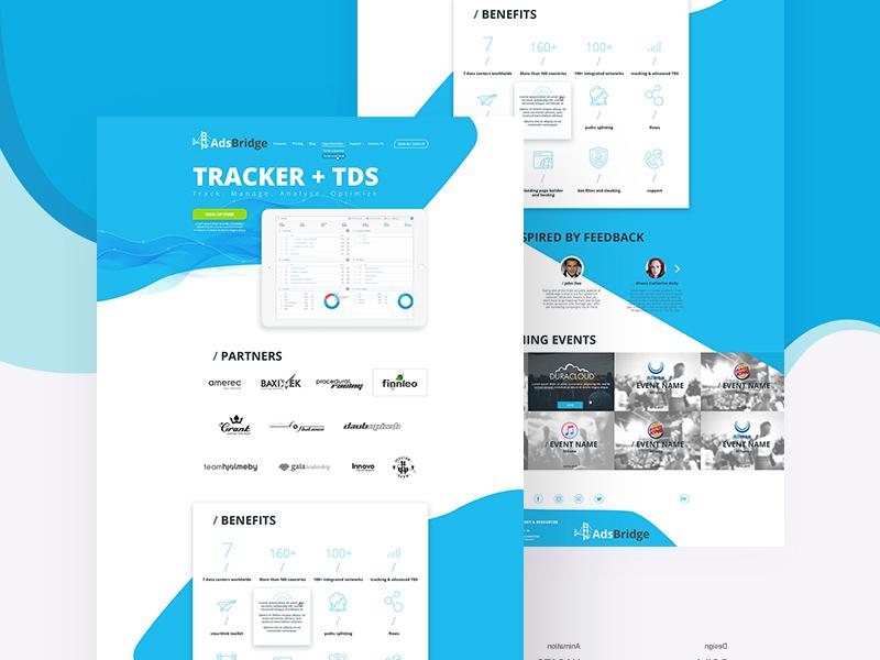 Landing Page Design Template Freebie - Download Photoshop Resource ...