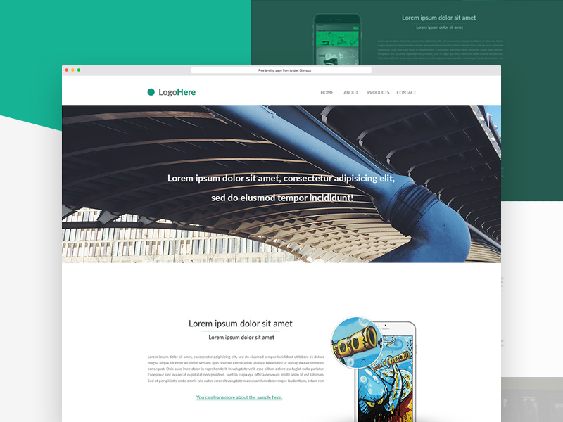 Product Landing Page Template Freebie Download Photoshop Resource - Sample landing page template