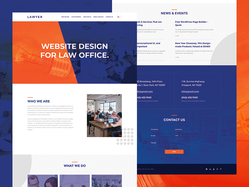Lawyer Website Template Freebie Download Photoshop Resource PSD Repo - Lawyer website template