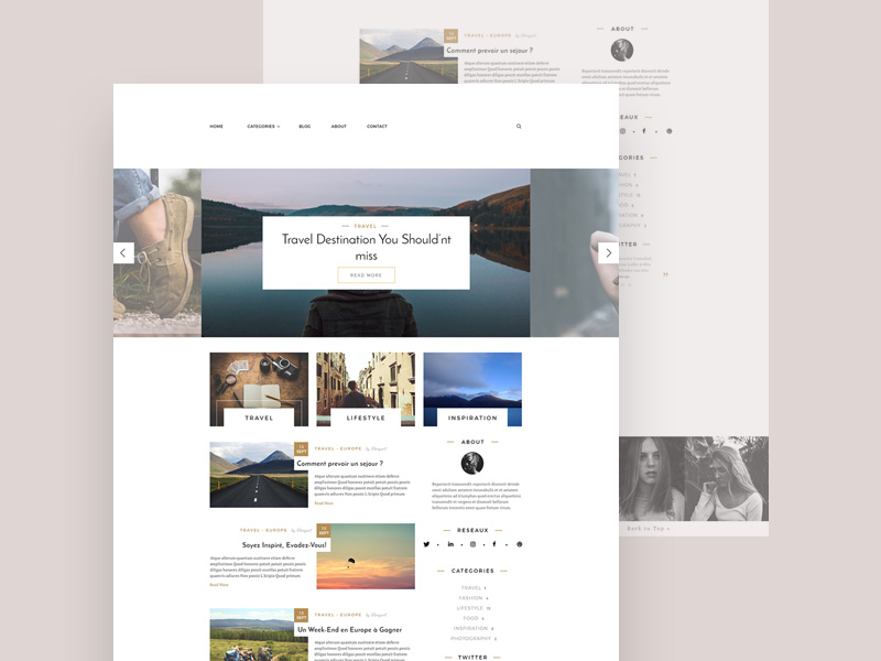 Lifestyle Blog Template Free Psd Template Psd Repo
