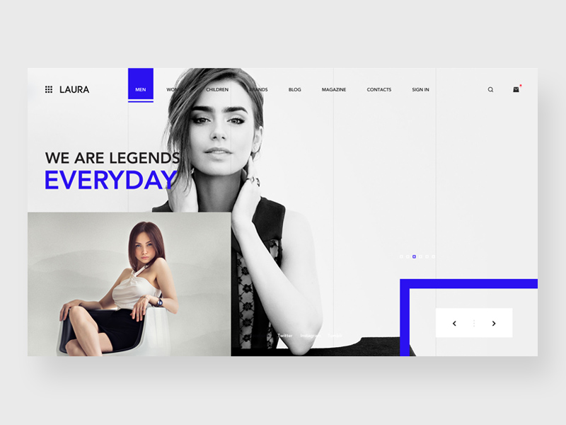 Free Laura Fashion Store Website Template download