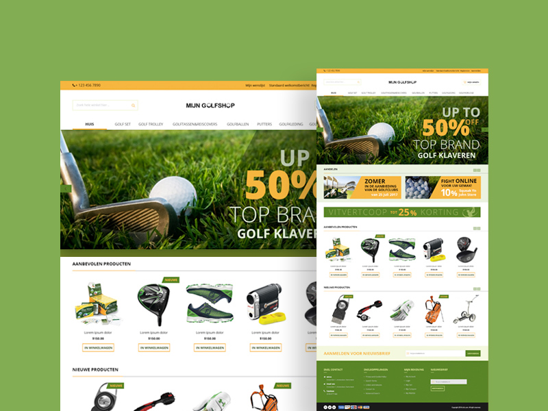 Free Golf Magento Website Template download