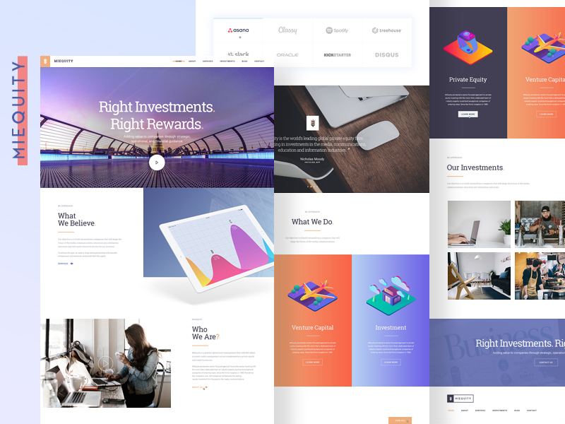 Free Miequity Website PSD Template download