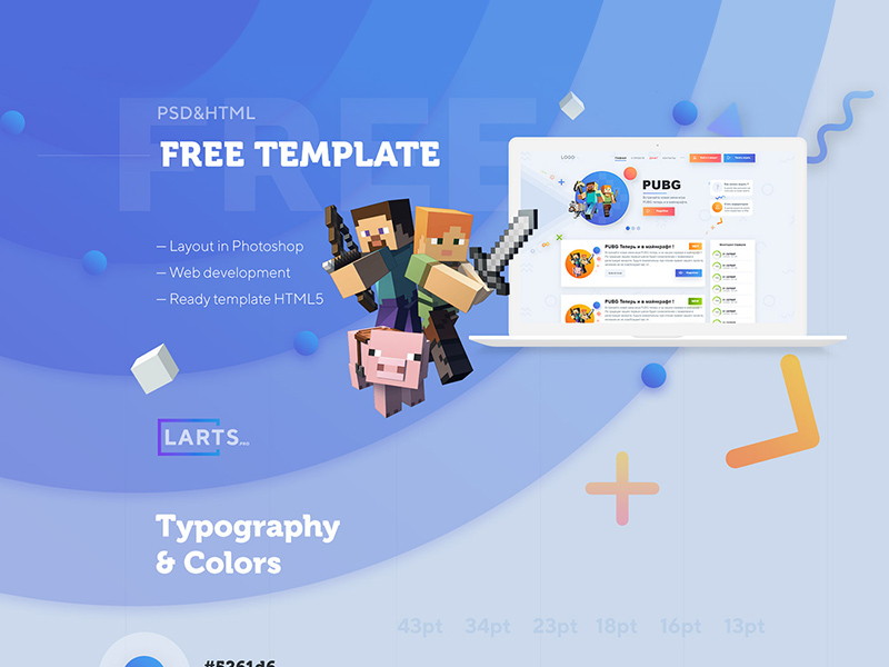 MineCraft Website Template Project Freebie - Download Photoshop ...