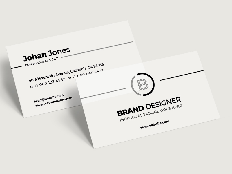 minimal business card template free psd template psd repo