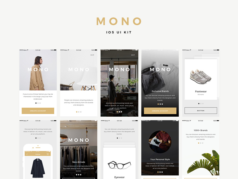 Mono Ios Ui Kit Samples Free Psd Template Psd Repo
