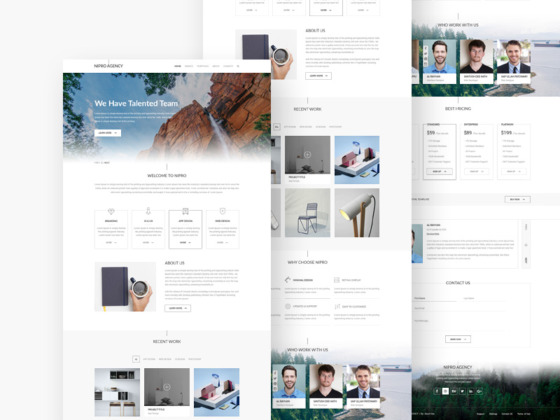 Nipro Agency Template