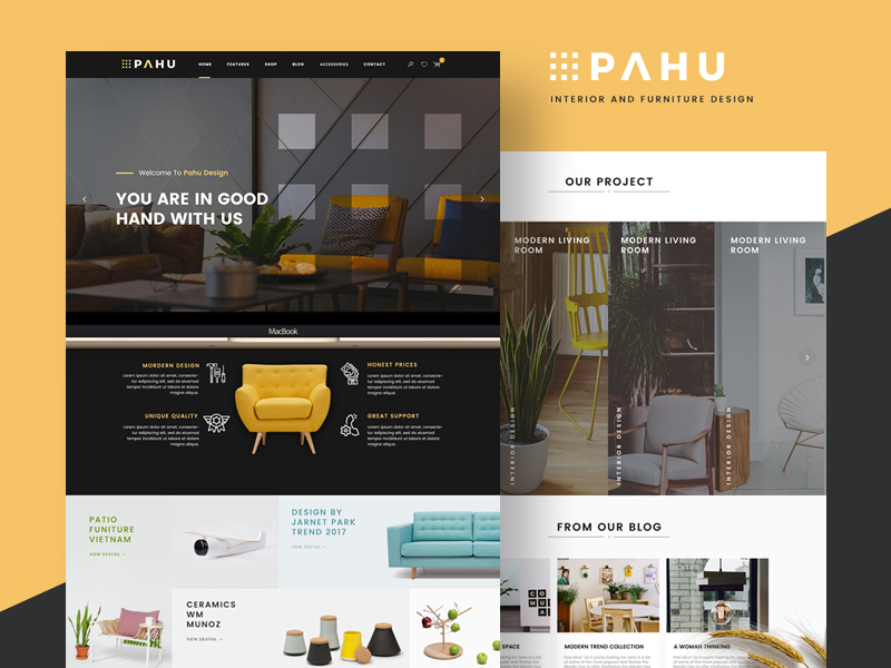 Free PAHU Website Template download
