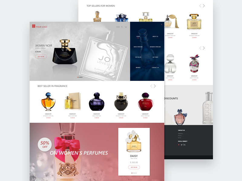 Perfume Online Store Template Free Psd Template Psd Repo