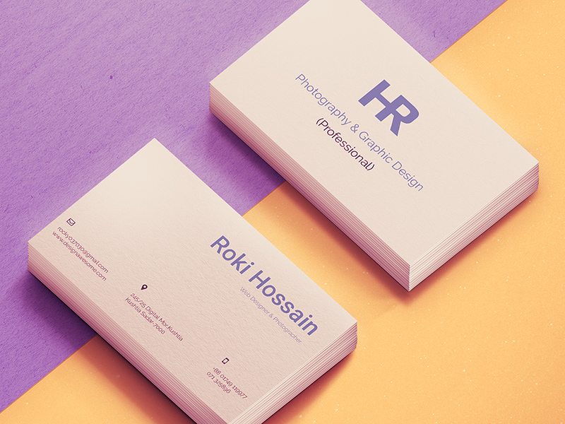 Personal Business Card Freebie - Download Photoshop Resource - PSD Repo