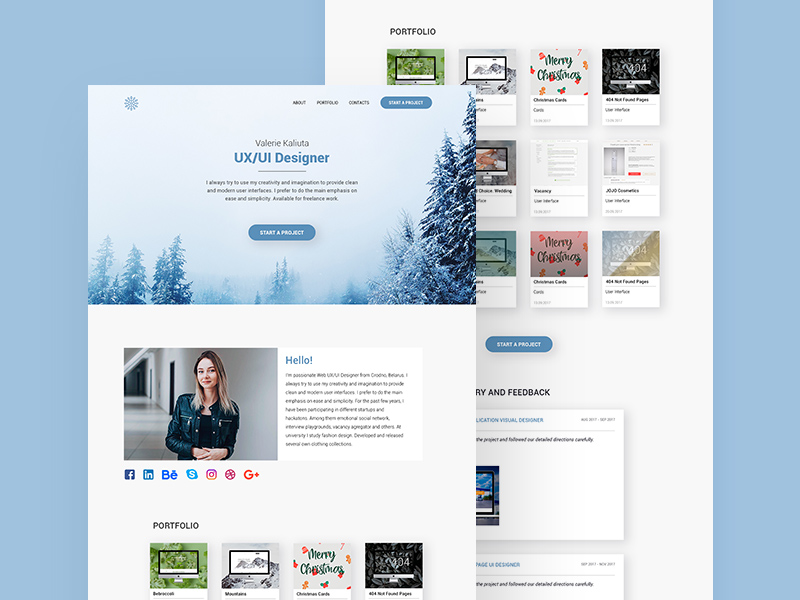 Personal Landing Page Template Freebie Download Photoshop Resource - Personal landing page template