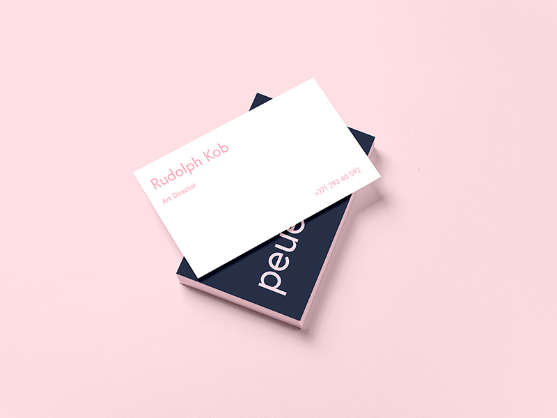 Peue Business Card Mockup Sample Freebie - Download Photoshop ...