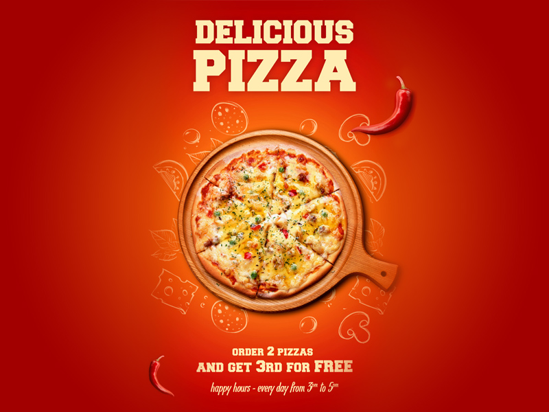 pizza poster template free psd template psd repo