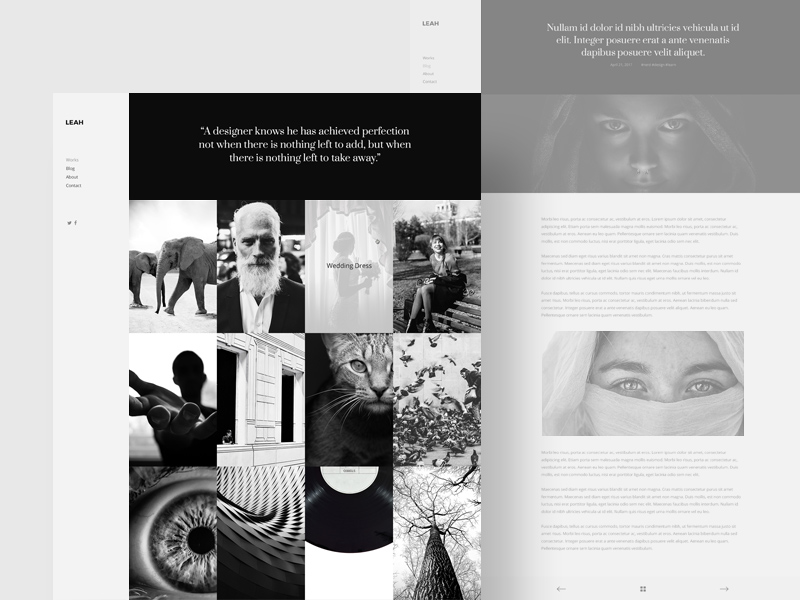 Free Portfolio Design Website Template download