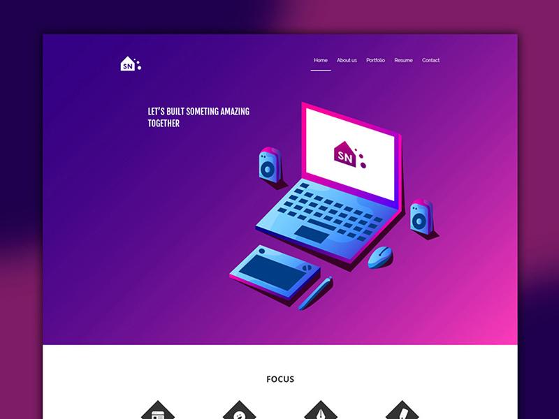 portfolio design templates free psd template psd repo