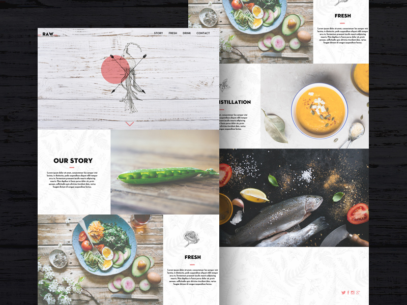 Free Raw Template For Restaurants And Bars download