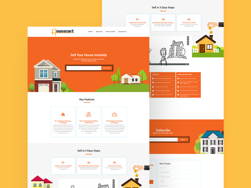 real estate website template freebie download photoshop resource