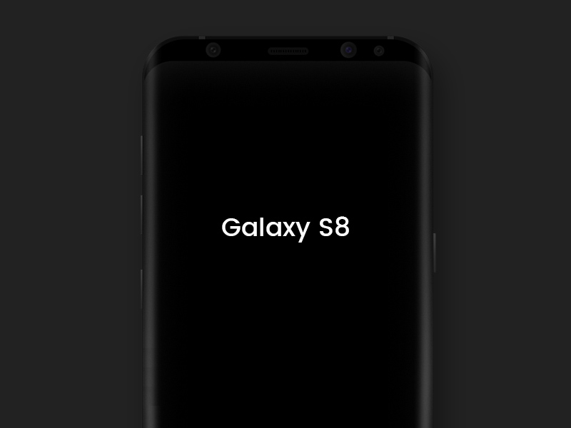 Free Samsung Galaxy S8 Black Mockup download